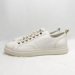 COACH C114 Lo Top Sneaker White 8.5 D Mens Leather